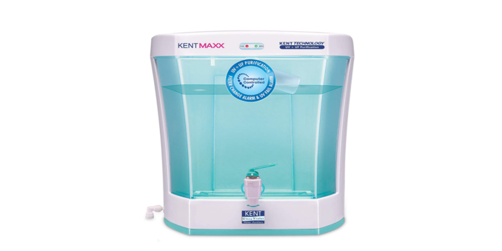 KENT Maxx 7-Litres Wall Mountable/Table Top UV + UF (White and Blue) 60-Ltr/hr Water Purifier