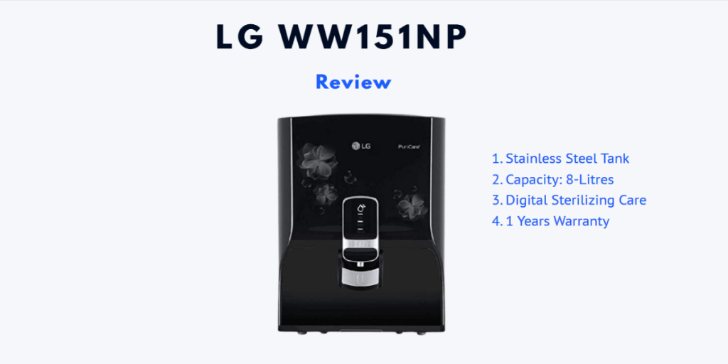 LG Water Purifier Review - Choose From Best 6
