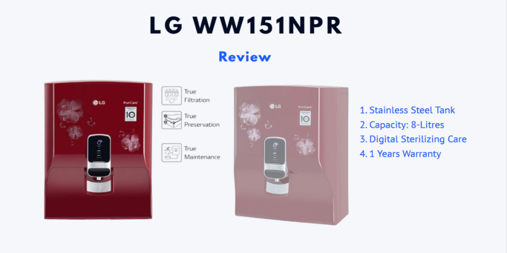 LG Water Purifier Review - Choose From Best 7