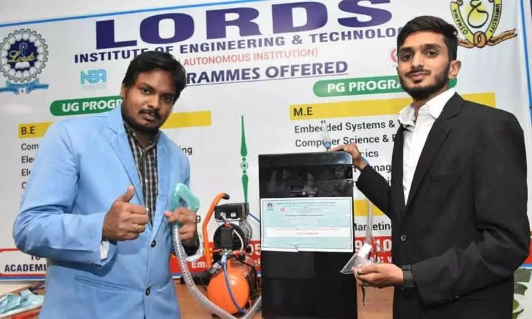 Engineering students in Hyderabad converts a water purifier into an oxygen cylinder.